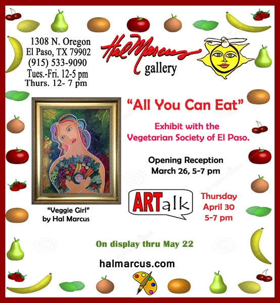 Announcement for Hal Marcus Gallery Event