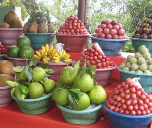 Bali fruit display